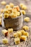Wheaten Croutons Lizenzfreies Stockfoto