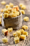 Wheaten croutons Royalty Free Stock Photo