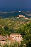 Wheater ruim nos montes do toscane Fotos de Stock