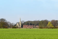 Wheatfield with rural church Royalty Free Stock Photos