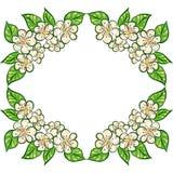 Wheath floral, marco para su diseño Foto de archivo libre de regalías