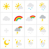 Wheather icons Stock Photos