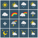 Wheather icons Royalty Free Stock Image