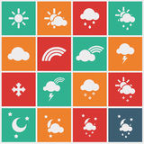 Wheather icons Stock Image