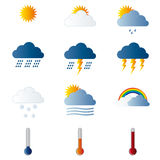 Wheather icons Stock Images