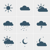 Wheather icons Royalty Free Stock Photography