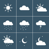 Wheather icons Royalty Free Stock Images