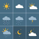 Wheather icons Stock Photo