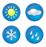 Wheather icons set Stock Images