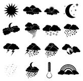 Wheather Icons Royalty Free Stock Photo