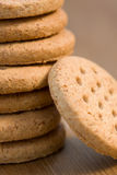 Wheatmeal biscuits Stock Photo