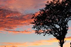Wheaton Sunset du centre Images stock