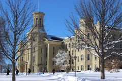 Wheaton am Winter Lizenzfreie Stockfotografie