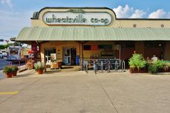 The Wheatsville Food Coop in Austin, Texas. AUSTIN, TX - Founded in 1976, the Wheatsville Co-op is a community owned food cooperative with a focus on local and stock photos