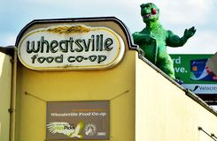 The Wheatsville Food Coop in Austin, Texas. AUSTIN, TX - Founded in 1976, the Wheatsville Co-op is a community owned food cooperative with a focus on local and royalty free stock photo