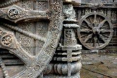 Whee des Konark Tempels. Lizenzfreies Stockbild