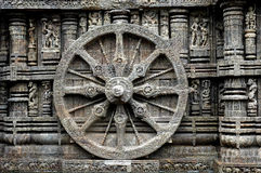 Whee of Konark temple. Royalty Free Stock Images