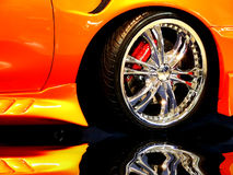 Wheel. Tuned Customised Cars Stock Photography