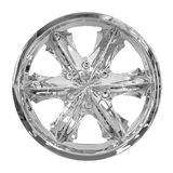 Wheel. Car alloy rim on white background Royalty Free Stock Images