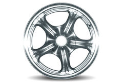 Wheel. Car alloy rim on white background Royalty Free Stock Photo