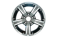 Wheel. Car alloy rim on white background Stock Photos