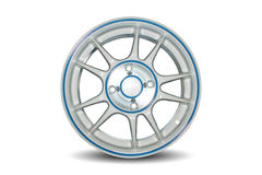 Wheel. Car alloy rim on white background Royalty Free Stock Photography