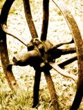 Wheel. Shot of a rotten wheel stock photo