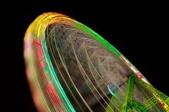 Wheel. Big wheel in motion at night Stock Image