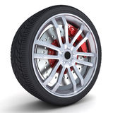 Wheel only. Motor car wheel on a white background Stock Image
