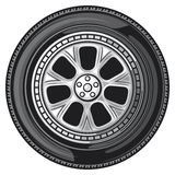 Wheel. Image point of the race cars Stock Photo