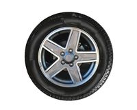 Wheel. Tire and rim of an SUV Stock Photo