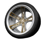 Wheel. Three-dimensional concept on white background Royalty Free Stock Photography