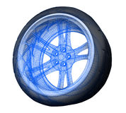 Wheel. Sports stylized three-dimensional concept Royalty Free Stock Photos