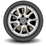 Wheel. Car wheel in details on white background with shadow, vector, illustration Stock Image