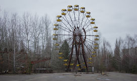 Wheel. The abandoned wheel in Chernobyl zone. Ghost town. deserted place. Pripyat Royalty Free Stock Images