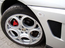 Wheel of Alfa Romeo GTV Royalty Free Stock Photo