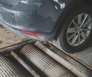 Wheel alignment and balancing. Stock Photos
