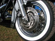 Wheel of an american motobike Stock Photo