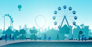 Wheel amusement parks Stock Photos