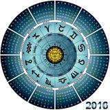 Wheel astral 2016. Graphic illustration of the wheel astral 2016 royalty free illustration