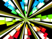 Wheel Background Shows Multicolored Rectangles And Spinning Royalty Free Stock Photos