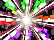 Wheel Background Shows Rainbow Beams And Bubbles Royalty Free Stock Photo