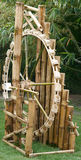 Wheel bamboo turbine Royalty Free Stock Images
