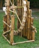 Wheel bamboo turbine Royalty Free Stock Photos