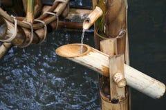 Wheel bamboo turbine Stock Photo