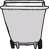 Wheel Barrel Front View Royalty Free Stock Photography