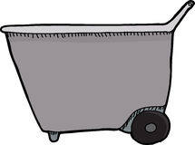 Wheel Barrel Side View Stock Image