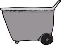 Wheel Barrel Side View Stock Image
