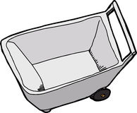 Wheel Barrel Top View Royalty Free Stock Images
