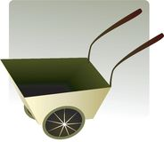 Wheel barrow Stock Images
